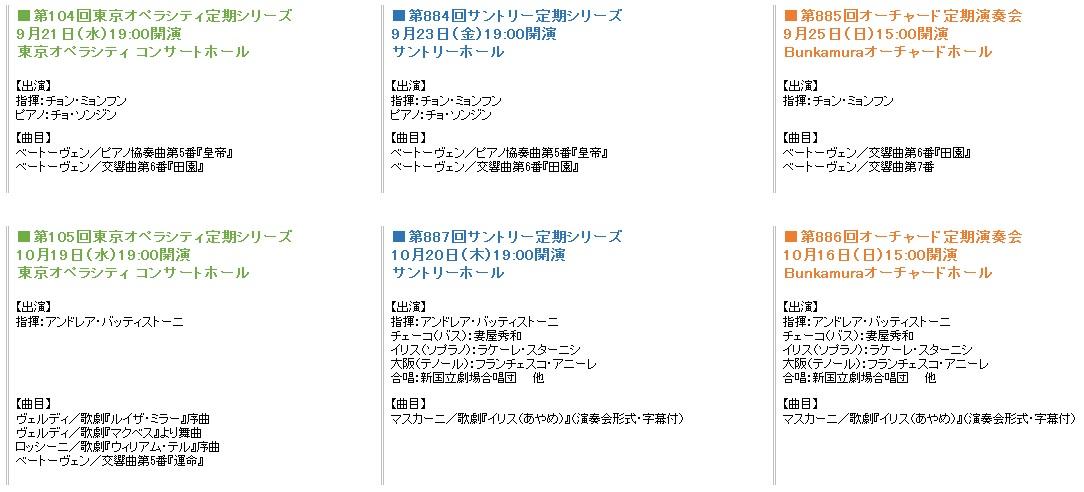 東京フィル9-10月