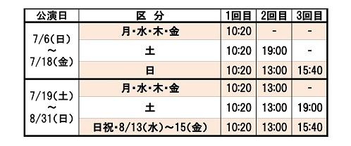 公演時間(PS富山)